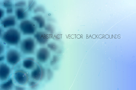 cancer cell: abstract scientific vector background with blurred organic shape