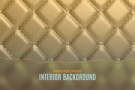 vector interior background with golden soft wall texture
