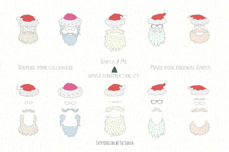 kindle: build your own Santa construction kit, just place your photo, wear five different accessories and be cool