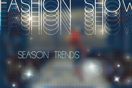 stage lights: fashion show abstract vector background with blurred podium Illustration