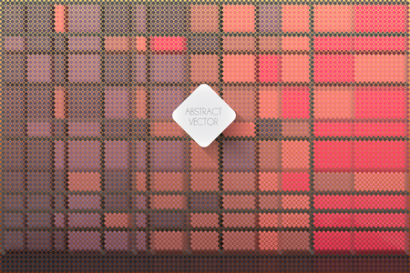 abstract vector background made of squared swatches in stylish colors