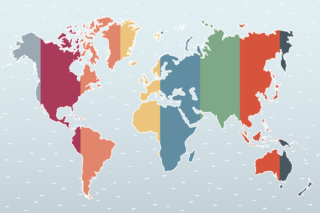 worldmap: vector worldmap in different colors in editable way - you can chage width and colors of all stripes