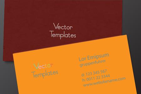 visit: visit card design presentation page design template