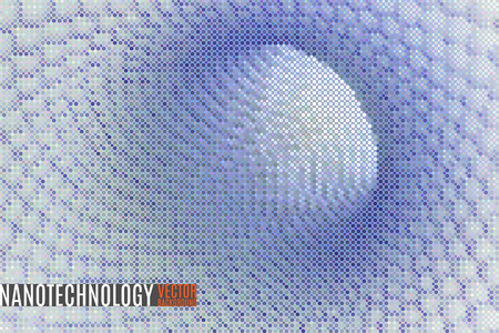 nanoparticle: abstract space scientific vector background made of tiny particles