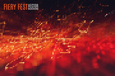 night party: abstract fiery fest vector background build of tiny geometric particles