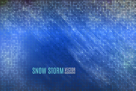 tints: abstract vector background with thousands of geometric particles spinning in cold winter air Illustration