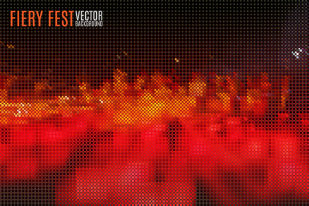 shiver: abstract fiery fest vector background build of tiny geometric particles