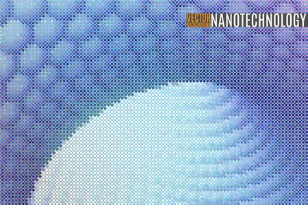 nanotube: abstract space scientific vector background made of tiny particles