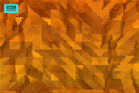 musing: abstract crumpled vector background made of tiny geometric particles Illustration