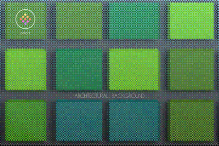 tints: abstract vector green tints rectangle background build of geometric particles