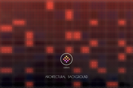 tints: abstract vector dark red tints rectangle background build of geometric particles Illustration