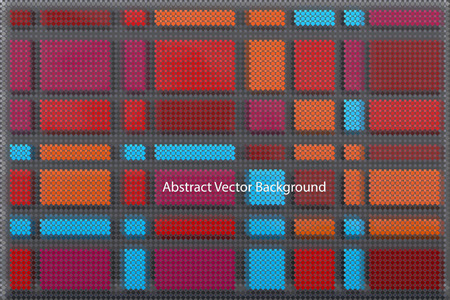 color swatches: red squared abstract background with thousands of color swatches forming different blocks
