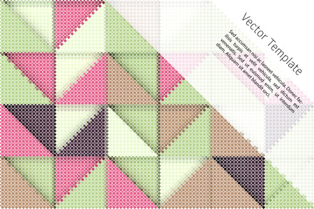 tints: abstract digital background with rectangular swatches forming triangles Illustration