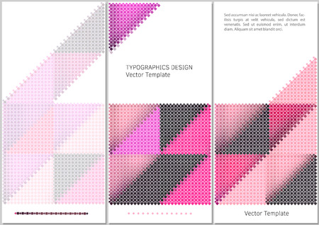 swatches: abstract digital background with rectangular swatches forming triangles Illustration