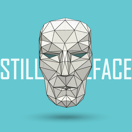 apathetic: abstract stylized vector low polygonal human head