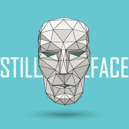 résumé, vecteur, stylisé faible tête humaine polygonale Vecteurs