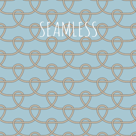 vintage style seamless nautical vector pattern with ropes