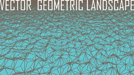 bumpy: vector polygonal surface as abstract geometrical landscape