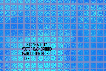 tints: abstract interior background with thousands of blue vector tiles Illustration