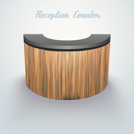 bar counter: modern design office reception or bar counter, made of separate planks easy to edit