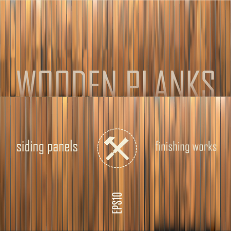 wood textures: vector set of wooden panels made of separated planks easy to edit or to make huge variety of your own wood textures Illustration