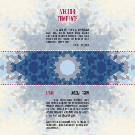Modelo abstracto del vector con el fondo geométrico adornado