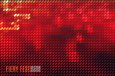 festival of lights: fiery festival vector background with blurred lights made of tiny vector particles