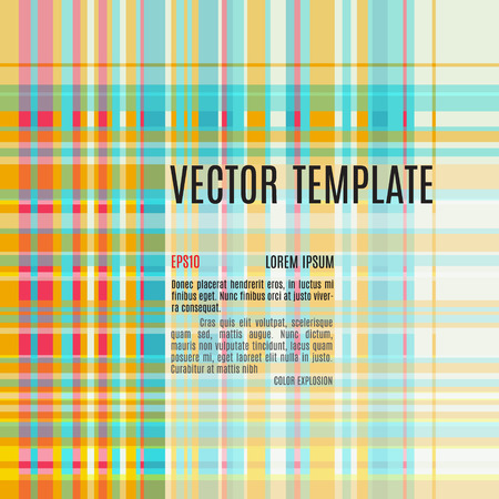 squared: squared textile background abstract vector template in stylish color palette