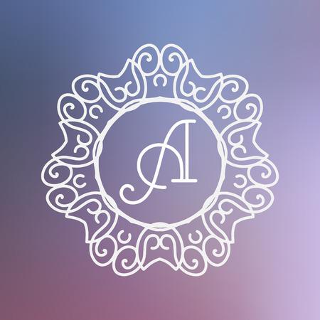 graceful: simple and graceful monogram design templates