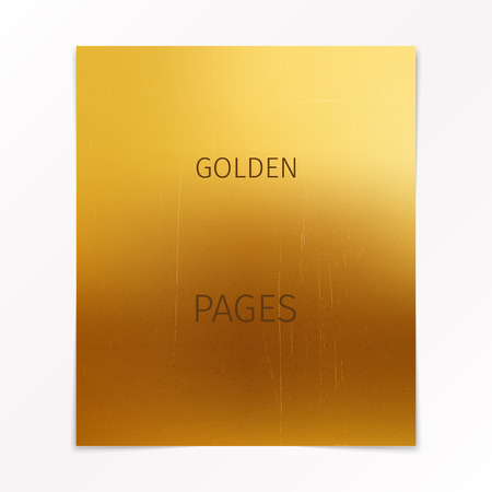 gold textured background: soft gold textured page with shadows on white background Illustration