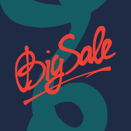expressive: hand drawn lettering with word Sale and expressive graphic elements