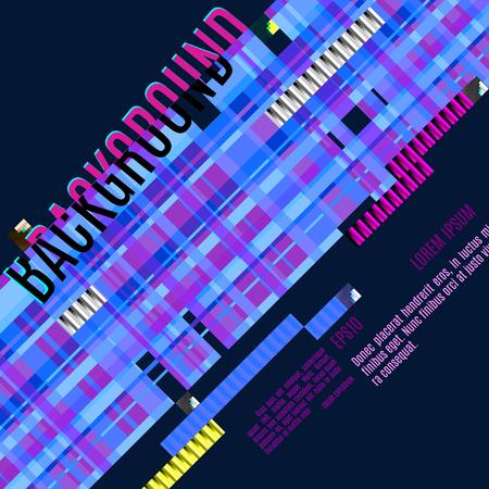 techology: vector glitch digital illustration, modern trendy design background