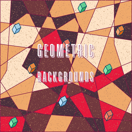 étrange motif abstrait numérique stylisé avec des figures géométriques