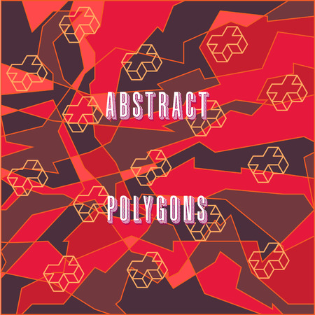 tectonic: strange abstract stylized digital pattern with geometric figures