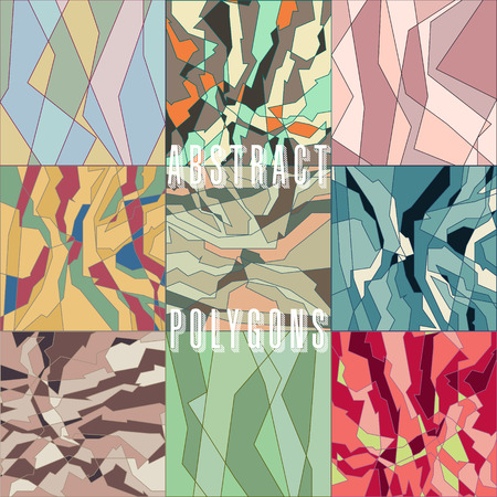 strange: collection of strange abstract stylized digital patterns Illustration