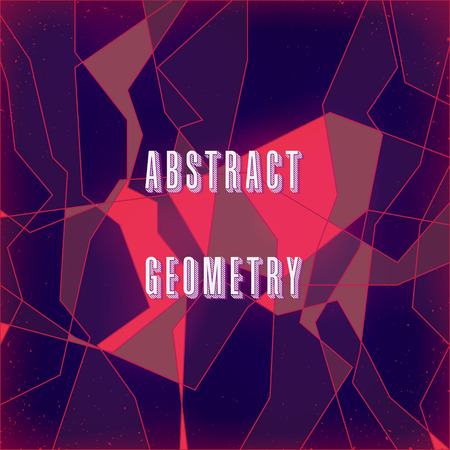 rock layer: strange abstract stylized digital pattern with geometric figures