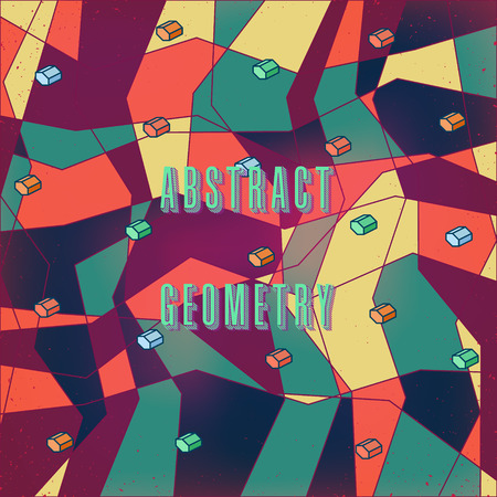strange: strange abstract stylized digital pattern with geometric figures