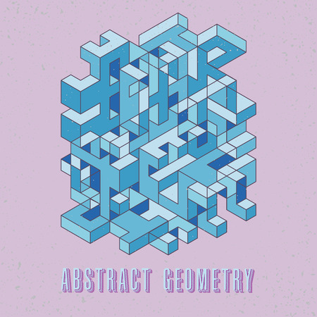interference: modern trendy design isometric digital pattern, perfect as a background