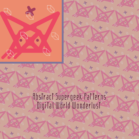 strange: crazy digital pattern with strange abstract and unusual geometry Illustration