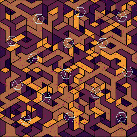 entangled: modern trendy design isometric digital pattern, perfect as a background