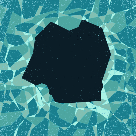 shatter: stylized vector cracked surface pattern with big hole