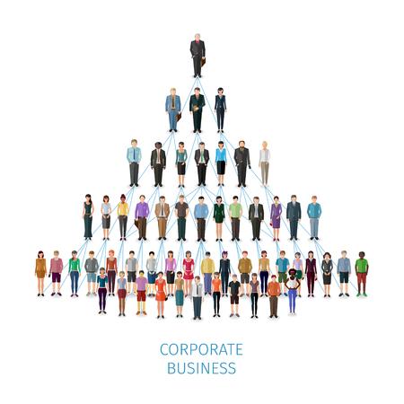 organisation: modern illustration -  vector concept of business organisation Illustration