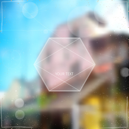 beam with joy: abstract blurred soft vector background with unrecognisable town street