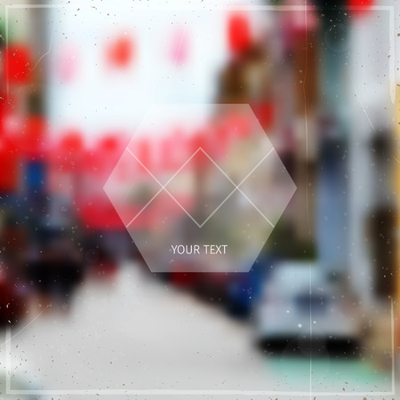 unrecognisable: abstract blurred soft vector background with unrecognisable town street