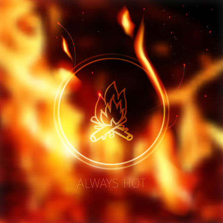 fiery: effective blurred fiery background and stylized fireplace
