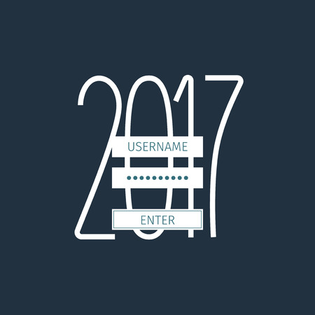 minimalistic: 2017 year coming soon conceptual greeting card with minimalistic design