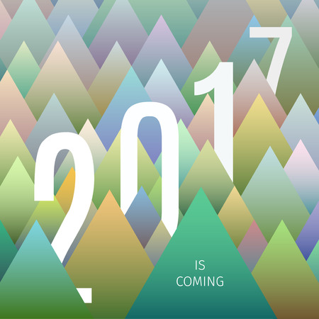 far away: modern design stylized abstract colorful background for new year celebrating Illustration