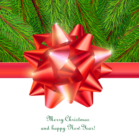 festive background for greeting card with shiny decorative sign Illustration