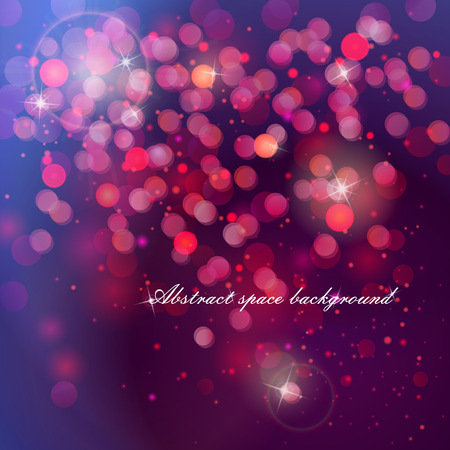 abstract beautiful bokeh glowing space colorful background