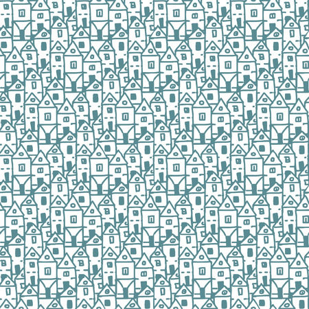 seamless hand drawn background, good as fabric doodle pattern
